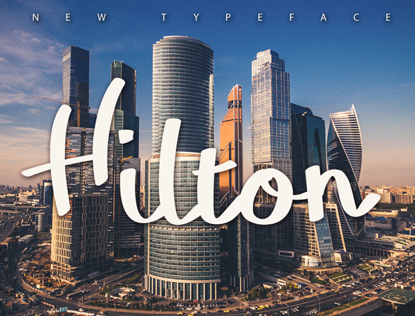 Hilton free fonts
