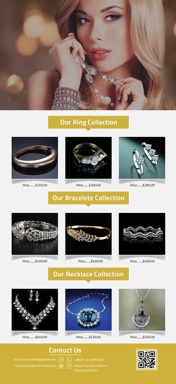 Free Jewelry Rack Card PSD Template