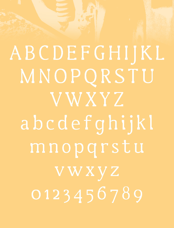 Lustro fonts and letters