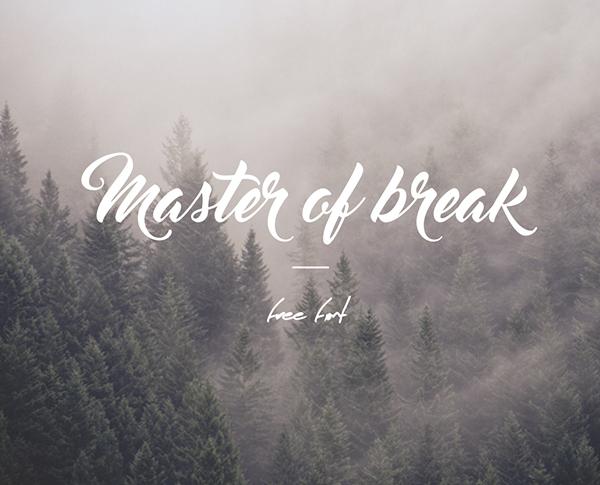 Master Of Break free fonts