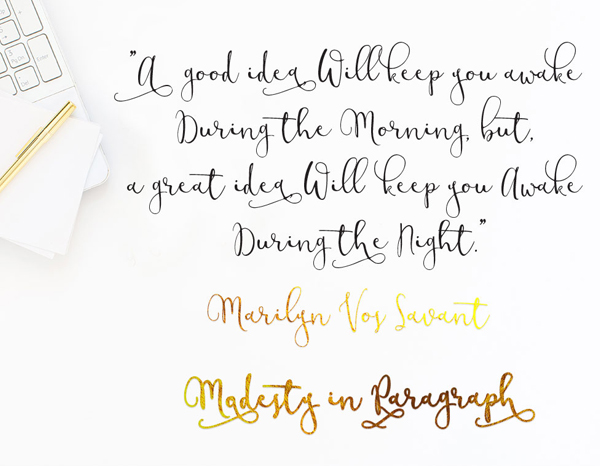 Modesty fonts and letters