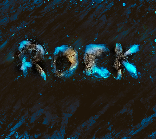Simple Break-Apart Rock Text Effect Creation In Photoshop