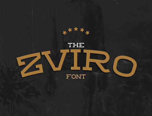 Zviro Free Hipster Fonts