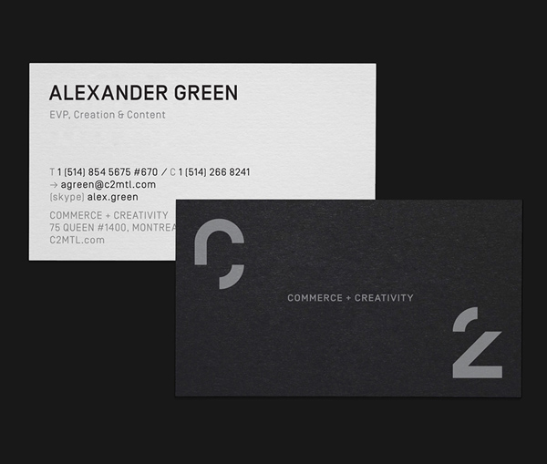 C2 MONTREAL Business Cards