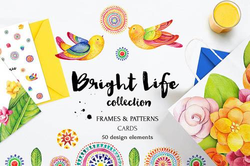 Bright life watercolor set