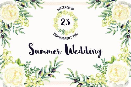 Watercolor Summer Wedding