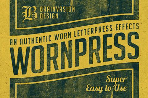 Wornpress – Photoshop Action