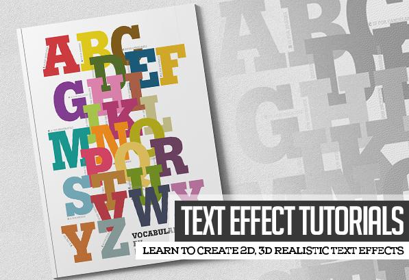 30 Fresh Text Effect Tutorials