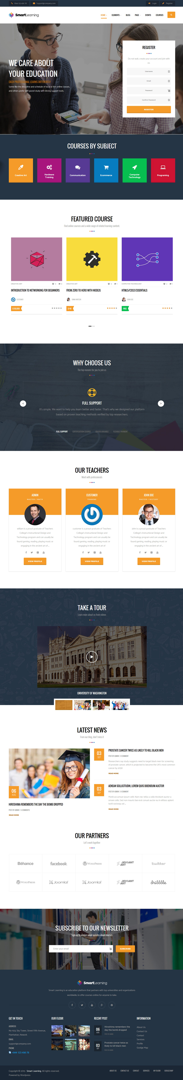 Smart Learning Responsive Education Theme For WordPress