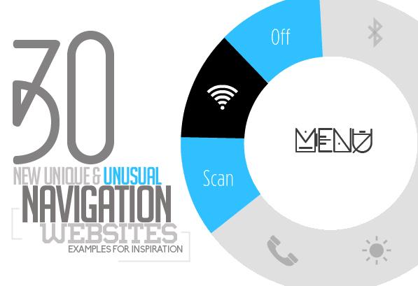 Unusual Navigation Websites Design – 30 Web Examples