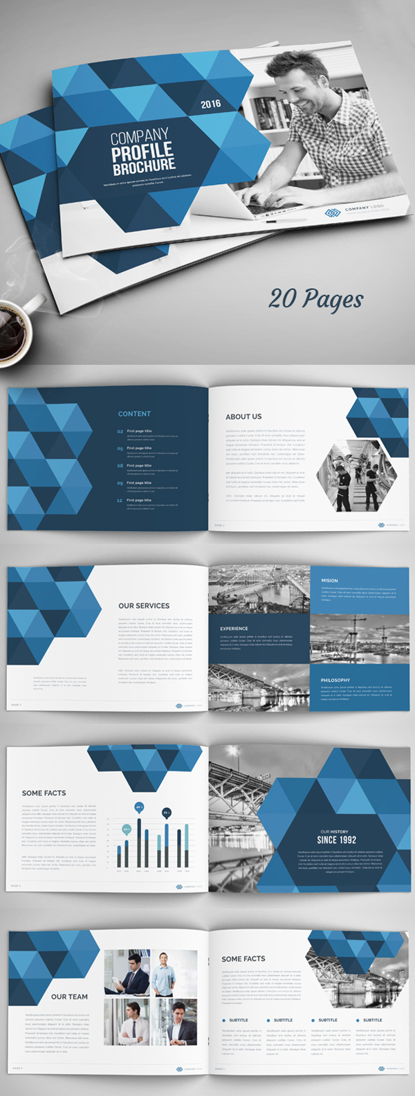 20 Pages Annual Report / Company Profile Brochure Template