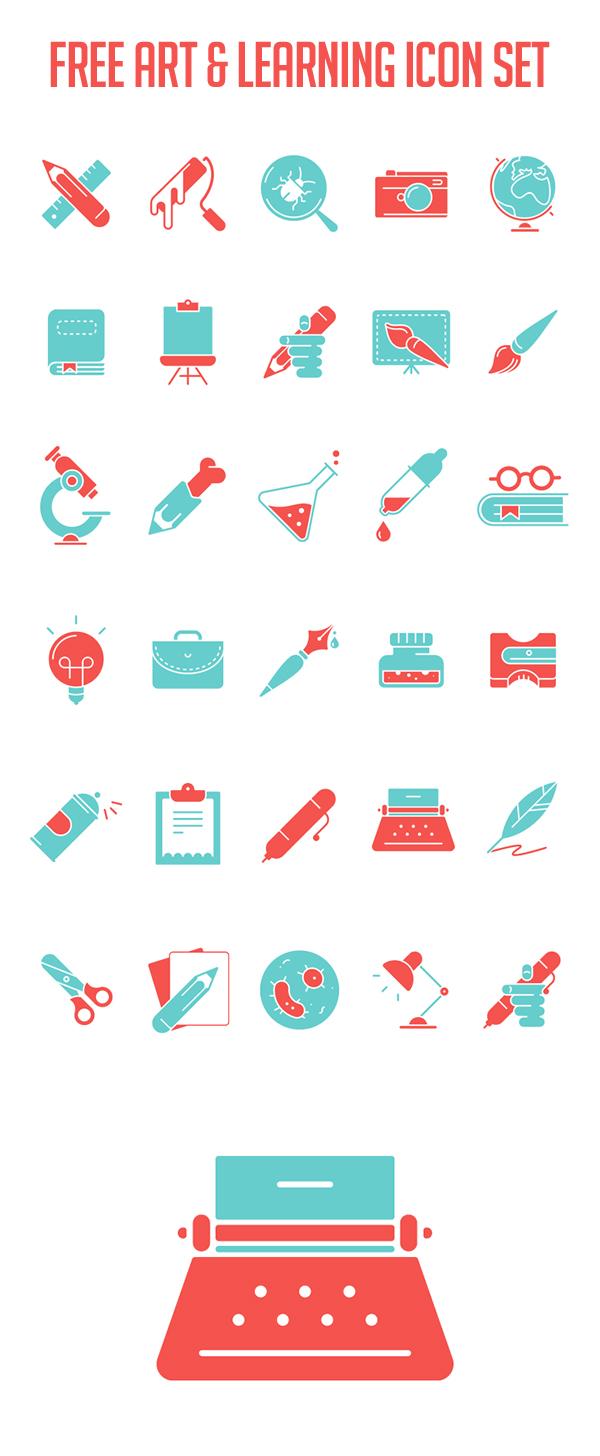 Art & Learning Icon Set
