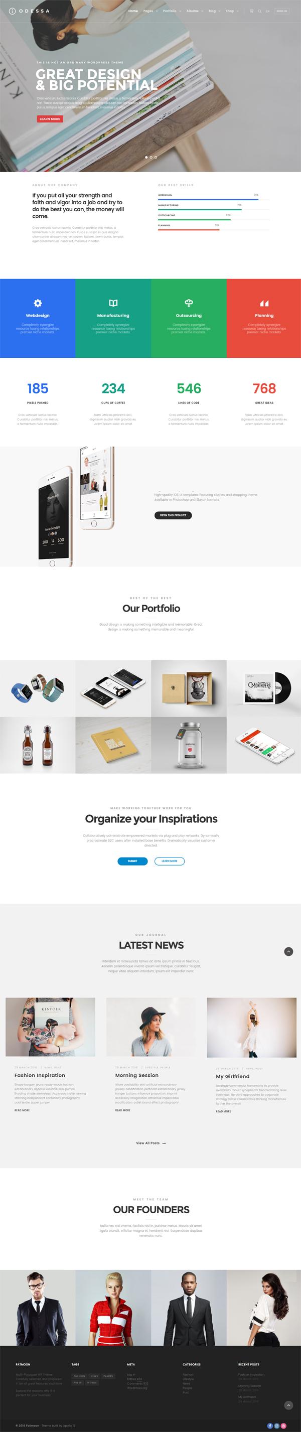 FatMoon - Creative & Photography Multi-Purpose Theme