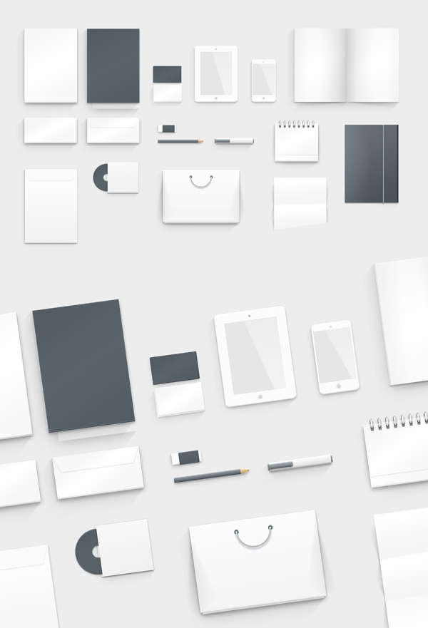 Free Graphic Branding PSD Mockup Design