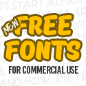 Post thumbnail of New Free Fonts for Commercial Use