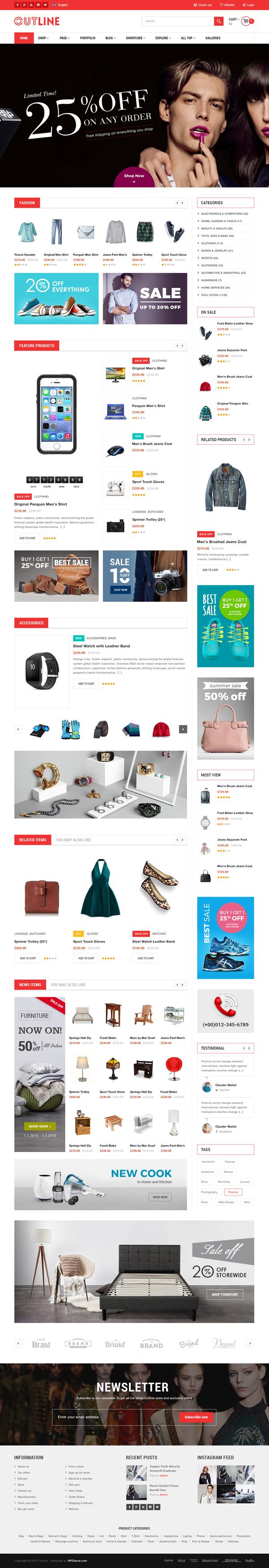 WDOutLine - WordPress WooCommerce Responsive Supermarket Theme