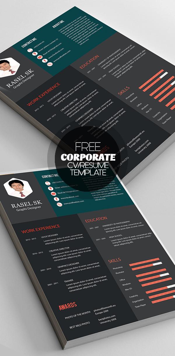 Free Elegant Corporate Resume Template
