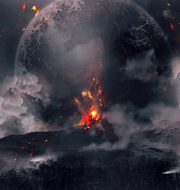 Create 'Fall Of The Dinosaurs' Digital Art In Photoshop Tutorial