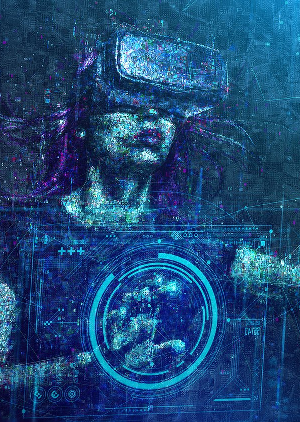 Create Glitchy Sci-Fi Art using Photoshop Blending Modes in Ps Tutorial