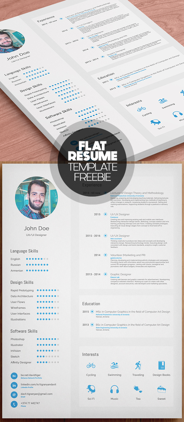 Flat Free Resume Template