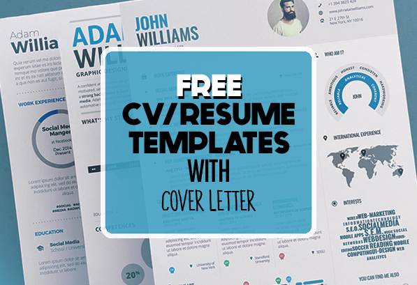 17 Free Clean Modern CV / Resume Templates (PSD)