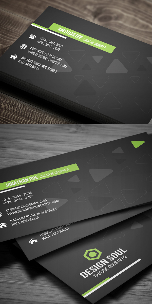 Soft Corporate Business Card Design