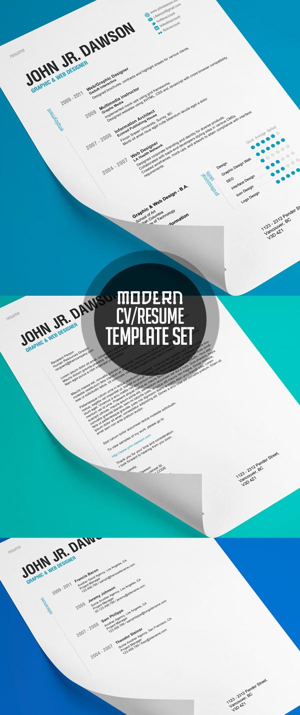 Modern Resume Template Set