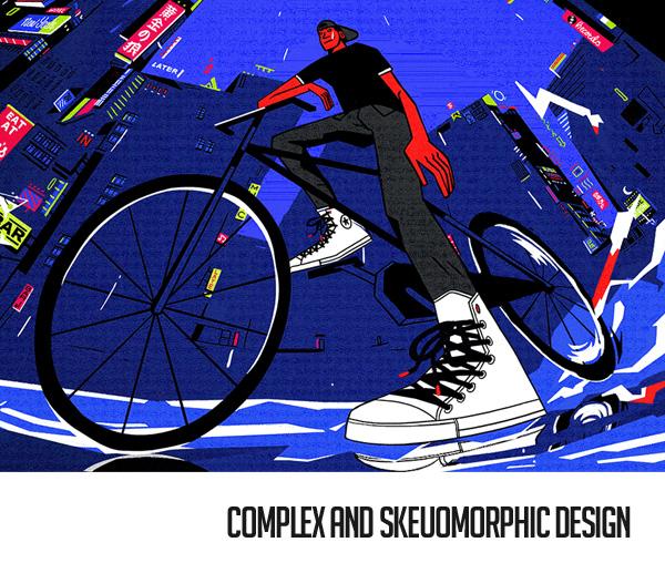 Complex and Skeuomorphic Design Trend
