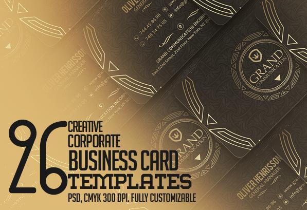 Creative Business Card PSD Templates: 26 New Design
