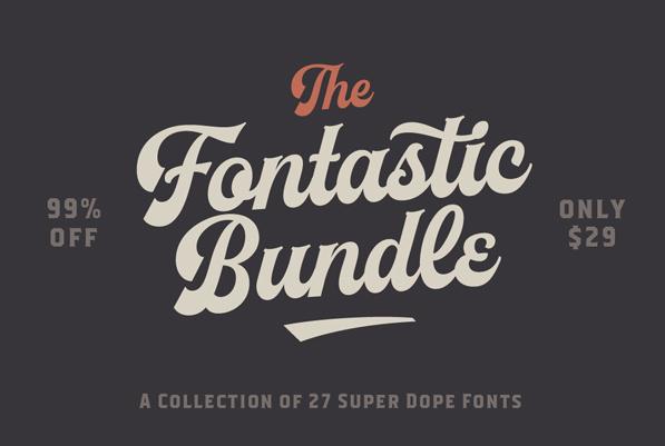 The Fontastic Bundle: 27 Fantastic Fonts