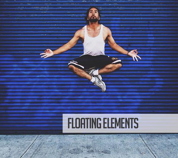 Floating Elements Web Design Trend