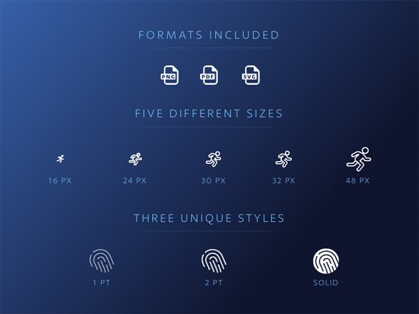 Luminance, A Black Pixel Icon Set