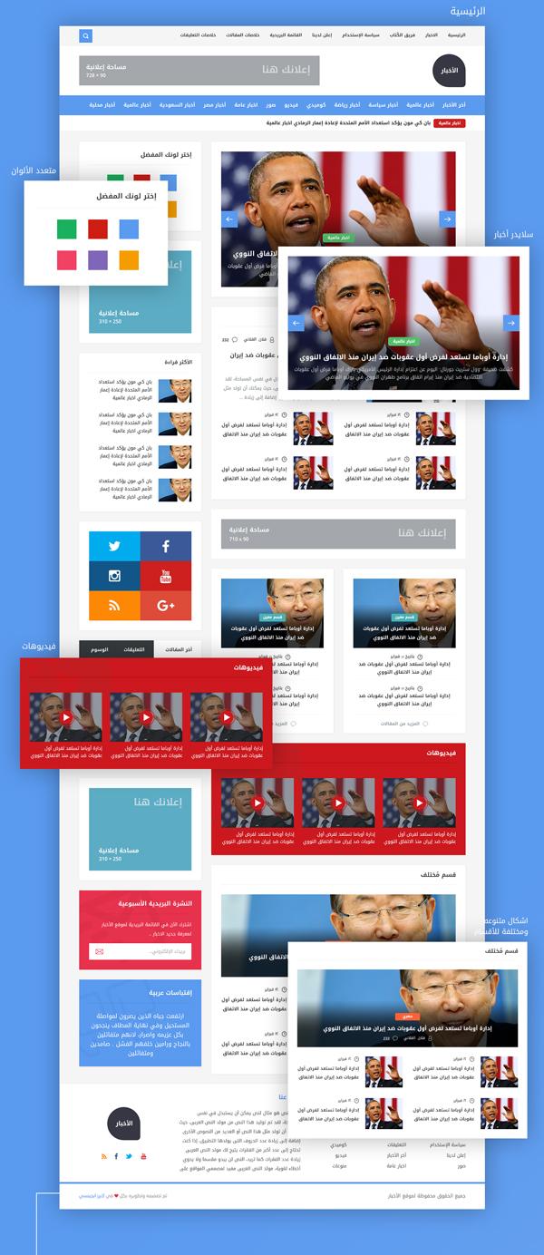 Free Arabic News PSD Template