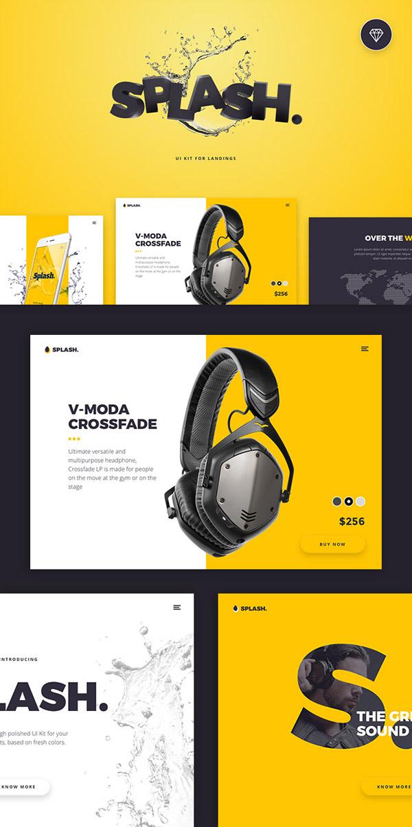 Freebie: 20 Splash UI Kit Screens
