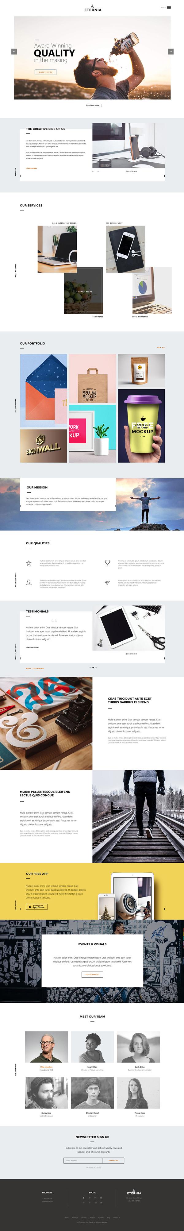 ETERNIA: Multipurpose Website Template PSD