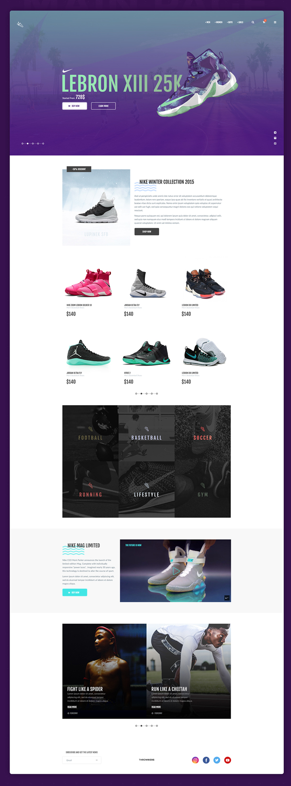 ThrowSneaks – Free Simple Shopping Template PSD