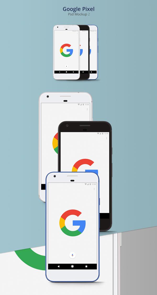 Free Google Pixel Psd Mockup