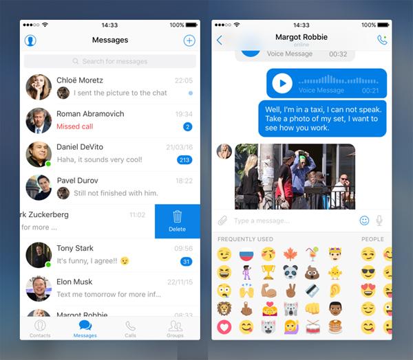 Free Messenger UI Kit for iOS