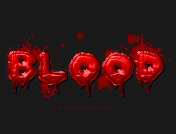 Create a Realistic Blood Text Effect in Photoshop