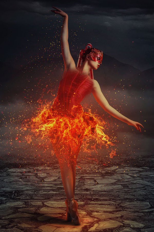 How to Create Dancing in Flames Photo Manipulation in Photoshop Tutorial