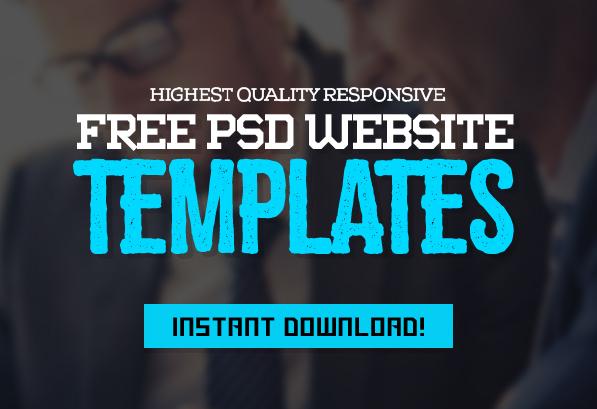 Web Templates – 25 Professional Free PSD Templates