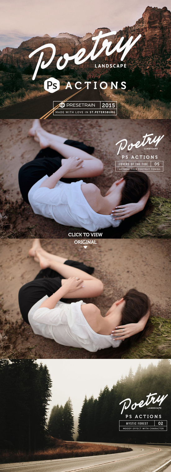 Poetry Photoshop Landscape Actions