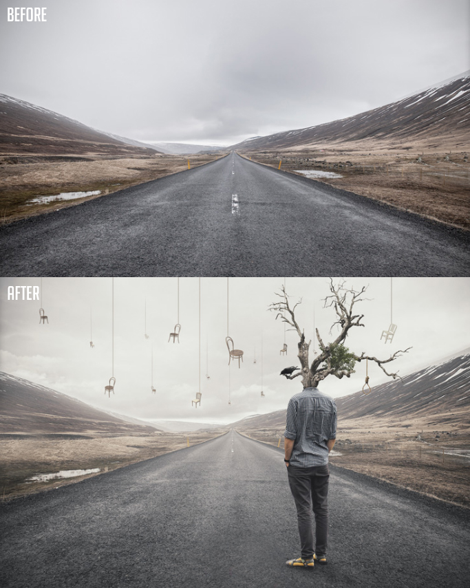How to Create Simple Surreal Manipulation Artwork in Photoshop