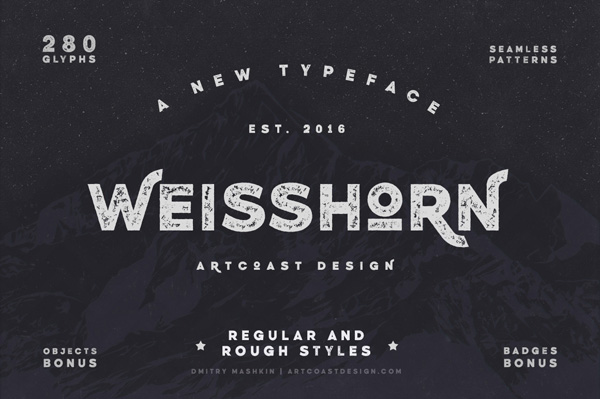 Weisshorn Typeface + Bonus