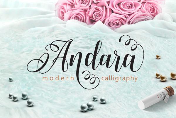 Andara Script, Calligraphy Font