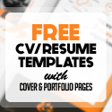Post thumbnail of 19 Free Creative CV / Resume Templates with Cover & Portfolio Pages