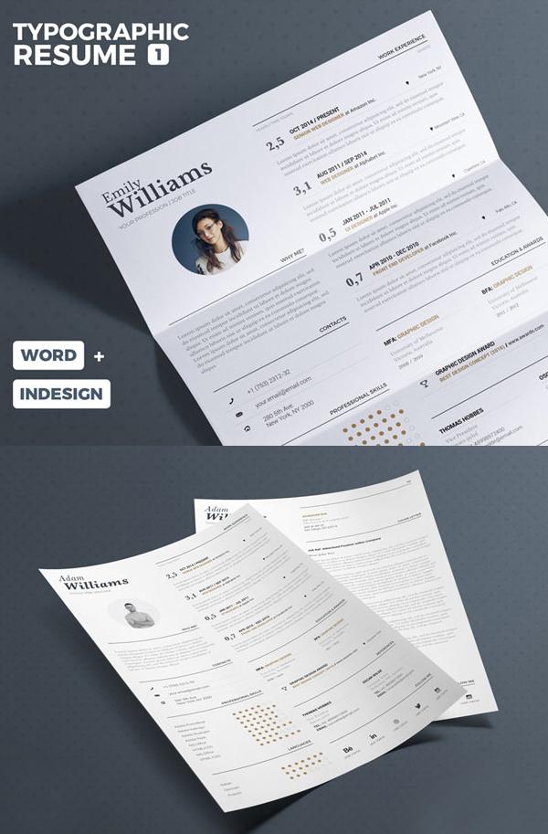 Free Typographic Resume Tempalate