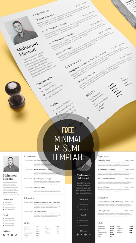 Free Minimal Resume Template (3 Variations)
