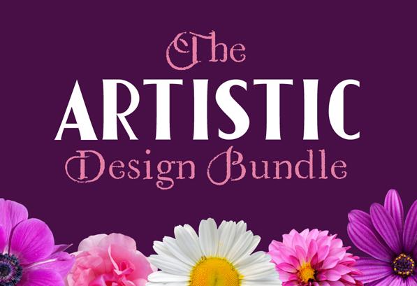 The Artistic Design Bundle (60 Fonts & 2377 Graphics)