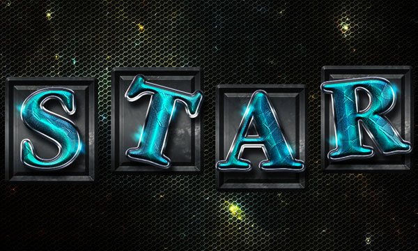 How to Create Space Tiles Text Effect in Photoshop